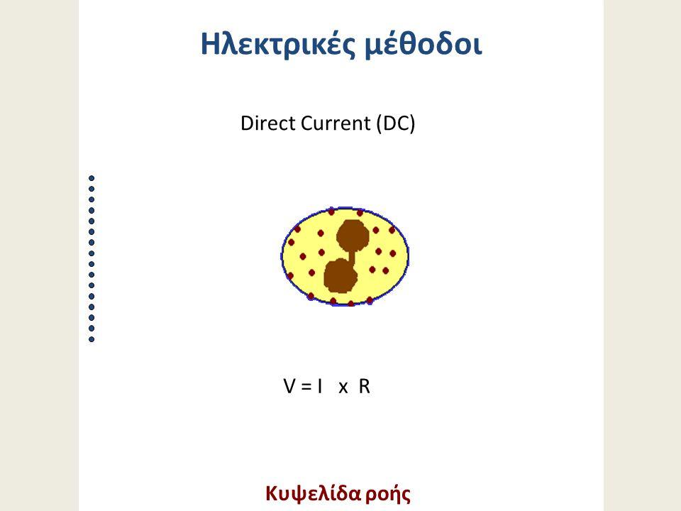 Κυψελίδα ροής V = I x R Direct Current (DC) Ηλεκτρικές μέθοδοι