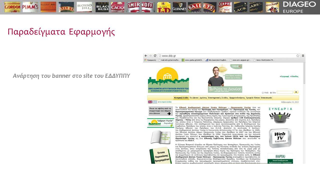 Παραδείγματα Εφαρμογής Ανάρτηση του banner στο site του ΕΔΔΥΠΠΥ
