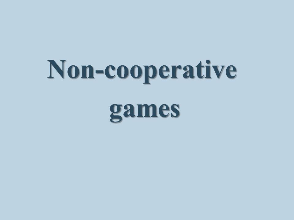 Non-cooperative games games