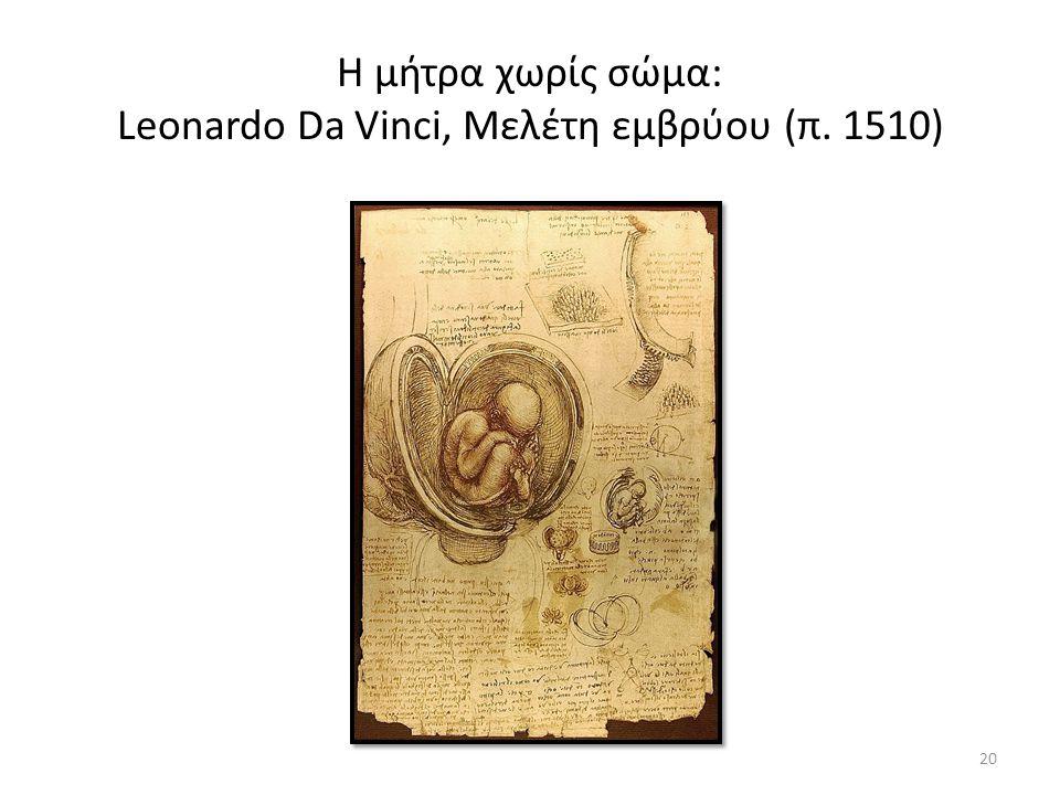Η μήτρα χωρίς σώμα: Leonardo Da Vinci, Μελέτη εμβρύου (π. 1510) 20