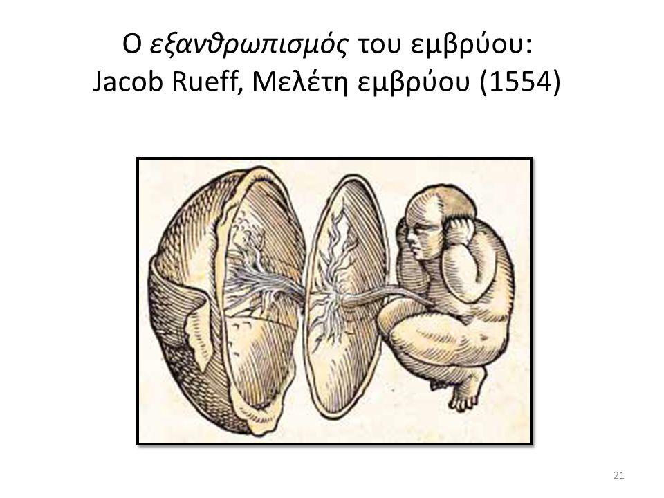 O εξανθρωπισμός του εμβρύου: Jacob Rueff, Μελέτη εμβρύου (1554) 21