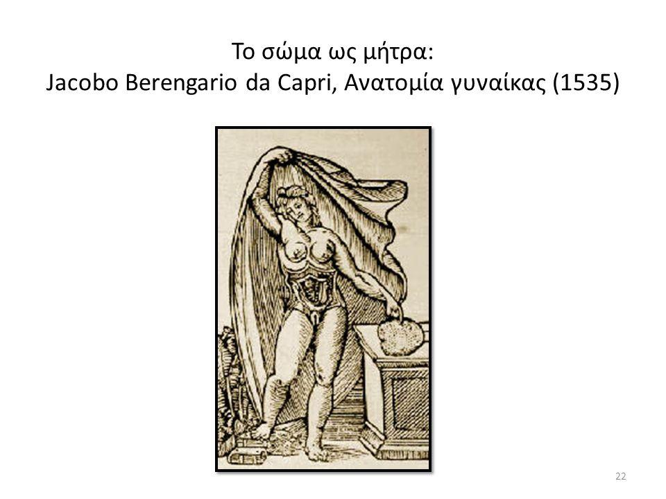 Το σώμα ως μήτρα: Jacobo Berengario da Capri, Ανατομία γυναίκας (1535) 22