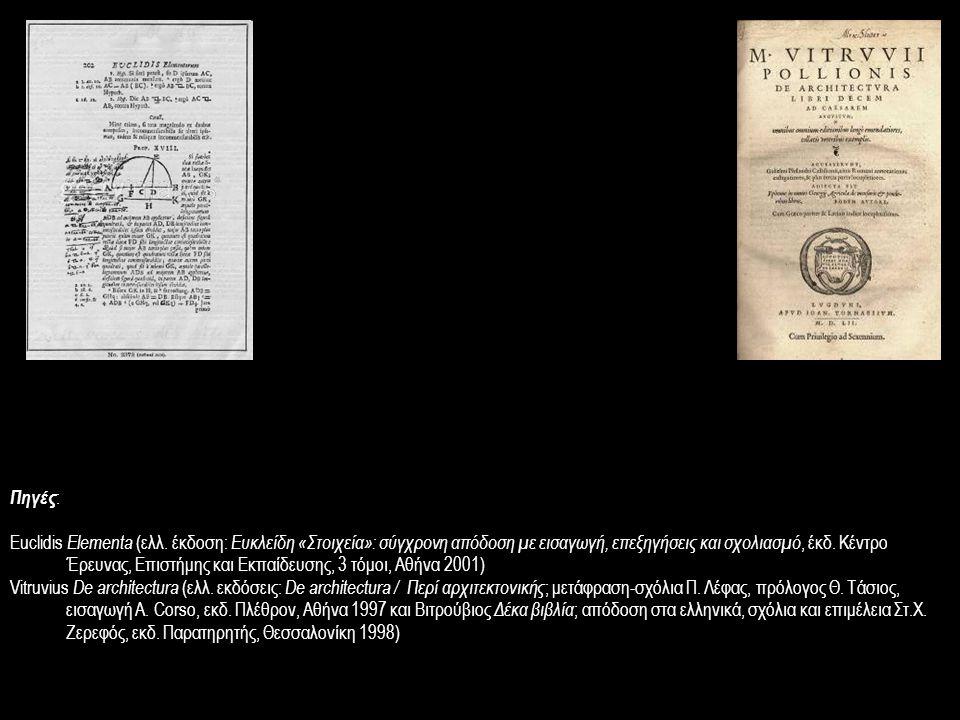 Πηγές : Euclidis Elementa (ελλ. έκδοση: Ευκλείδη «Στοιχεία»: σύγχρονη απόδοση με εισαγωγή, επεξηγήσεις και σχολιασμό, έκδ. Κέντρο Έρευνας, Επιστήμης κ