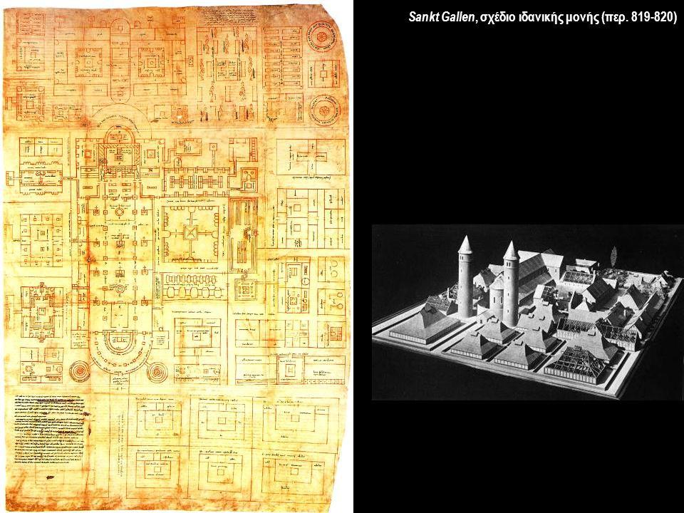 Sankt Gallen, σχέδιο ιδανικής μονής (περ. 819-820)