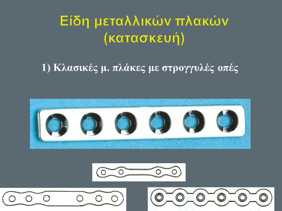 1) Κλασικές μ. πλάκες με στρογγυλές οπές
