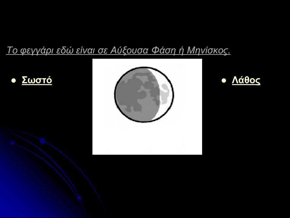 Σε τι φάση βρίσκεται εδώ το φεγγάρι ; Νέα Σελήνη Νέα Σελήνη Πανσέληνος