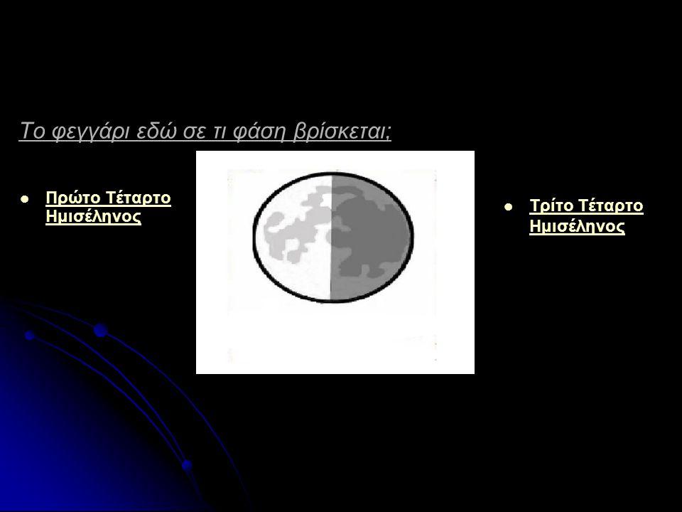 Το φεγγάρι εδώ είναι σε φάση Νέας Σελήνης. Σωστό Σωστό Σωστό Λάθος Λάθος Λάθος