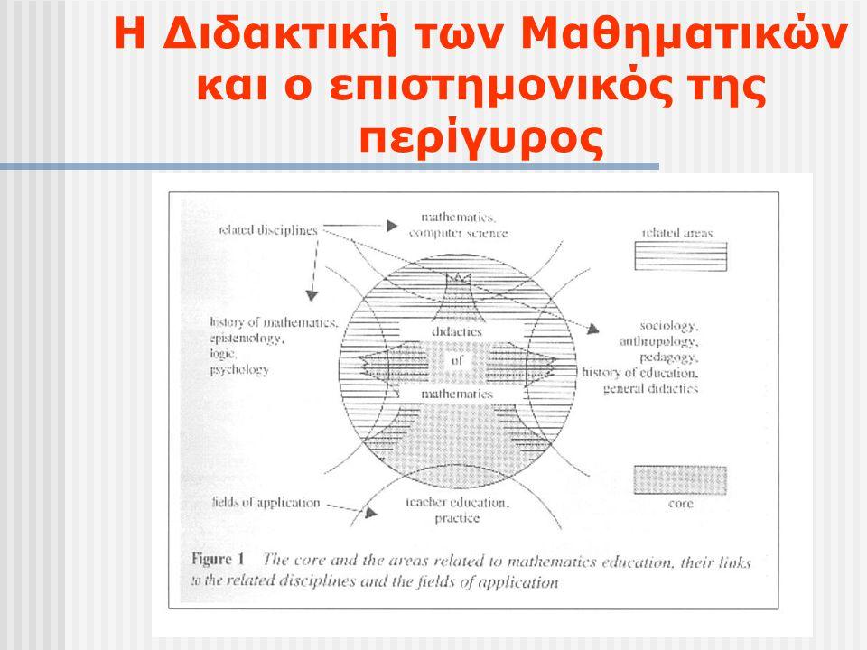 Η Διδακτική των Μαθηματικών και ο επιστημονικός της περίγυρος