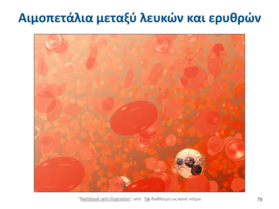 """Αιμοπετάλια μεταξύ λευκών και ερυθρών """"Red blood cells illustration"""", από Fæ διαθέσιμο ως κοινό κτήμαRed blood cells illustrationFæ 79"""