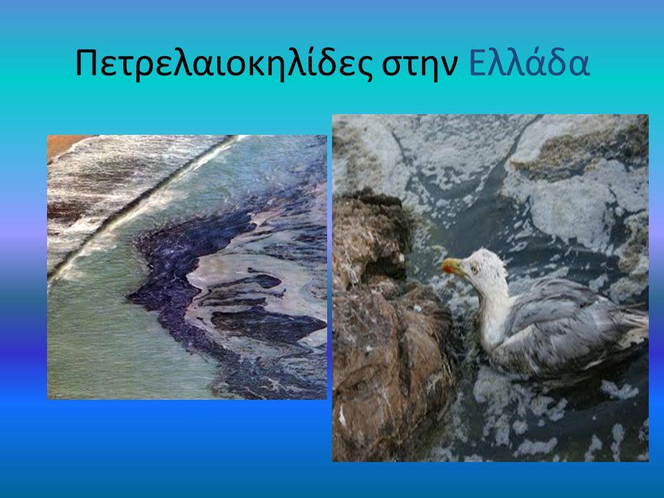 Αλλά πετρελαιοκηλίδες υπάρχουν και στην Ελλάδα Κόλπος Ελευσίνας [πλοίο La guardian] Φραγκολιμανο στην Πελοπόννησο Καγους λίμνες Κρήτης Ν. Εύβοια[πλοίο