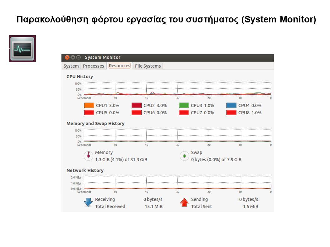 Παρακολούθηση φόρτου εργασίας του συστήματος (System Monitor)
