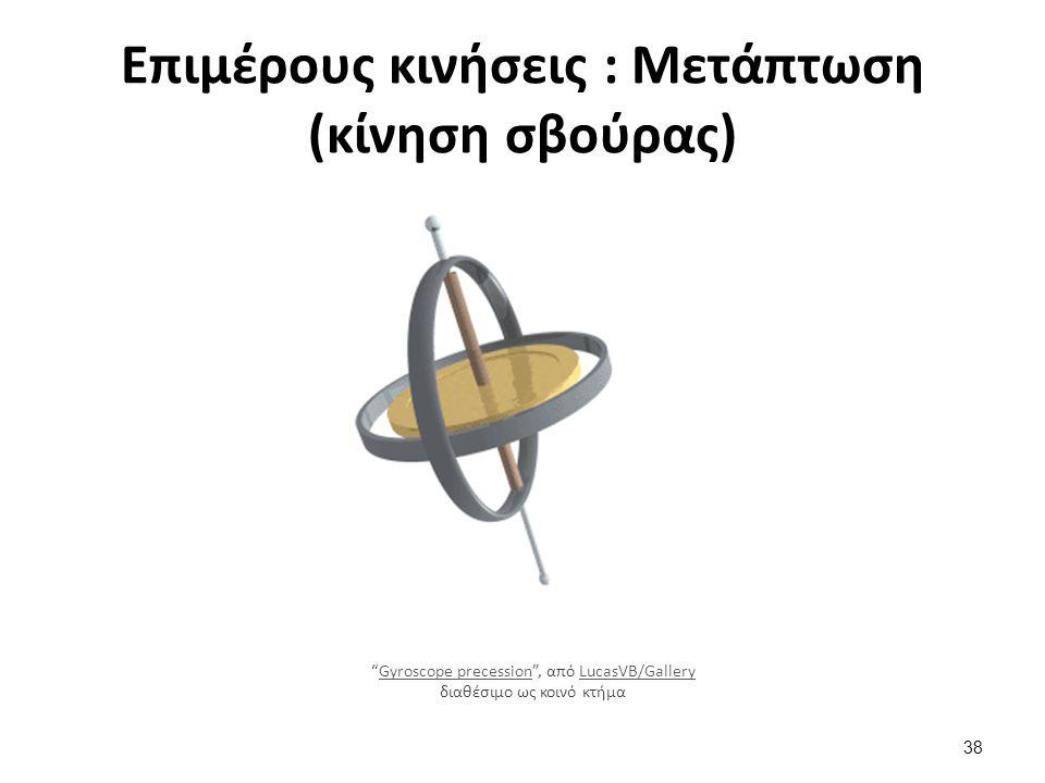 Επιμέρους κινήσεις : Μετάπτωση (κίνηση σβούρας) Gyroscope precession , από LucasVB/Gallery διαθέσιμο ως κοινό κτήμαGyroscope precessionLucasVB/Gallery 38