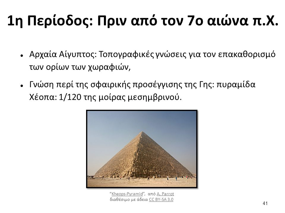 1η Περίοδος: Πριν από τον 7ο αιώνα π.Χ.