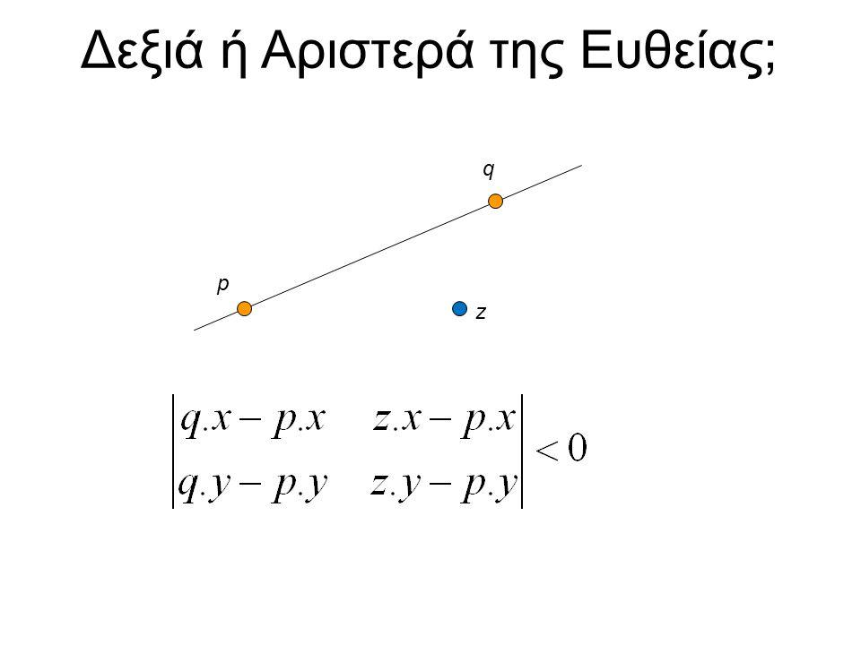 Δεξιά ή Αριστερά της Ευθείας ; q p z