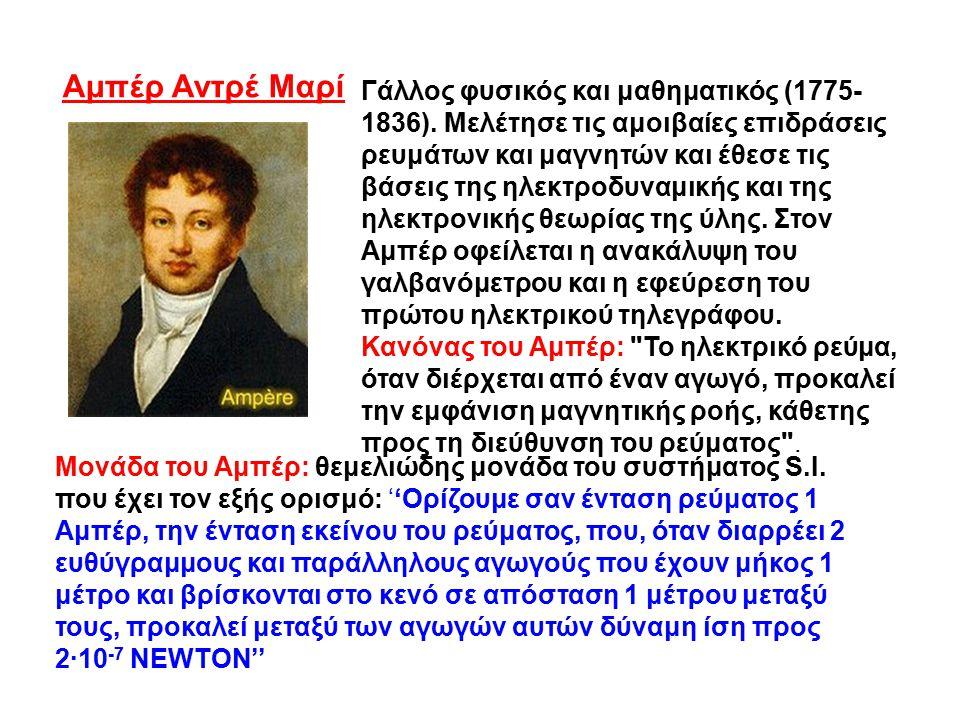 Γάλλος φυσικός και μαθηματικός (1775- 1836). Μελέτησε τις αμοιβαίες επιδράσεις ρευμάτων και μαγνητών και έθεσε τις βάσεις της ηλεκτροδυναμικής και της