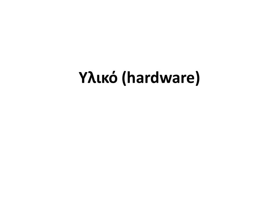 Τα βασικά μέρη του υπολογιστή