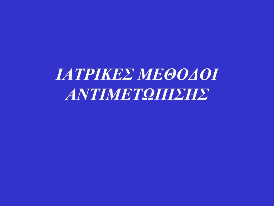 ΙΑΤΡΙΚΕΣ ΜΕΘΟΔΟΙ ΑΝΤΙΜΕΤΩΠΙΣΗΣ