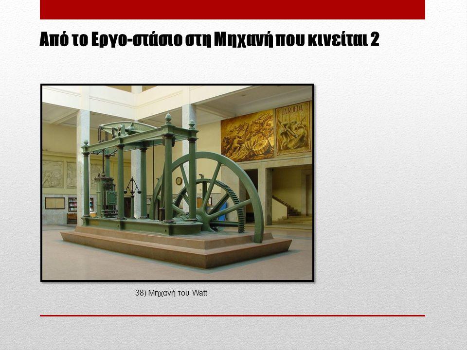 Aπό το Εργο-στάσιο στη Μηχανή που κινείται 2 38) Μηχανή του Watt