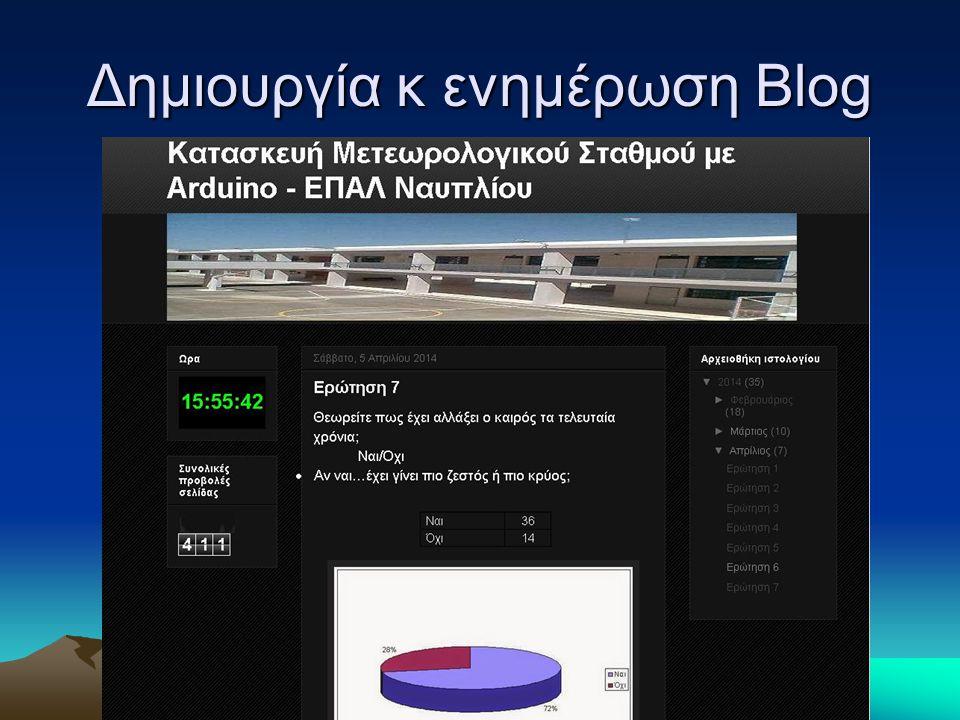 Δημιουργία κ ενημέρωση Blog