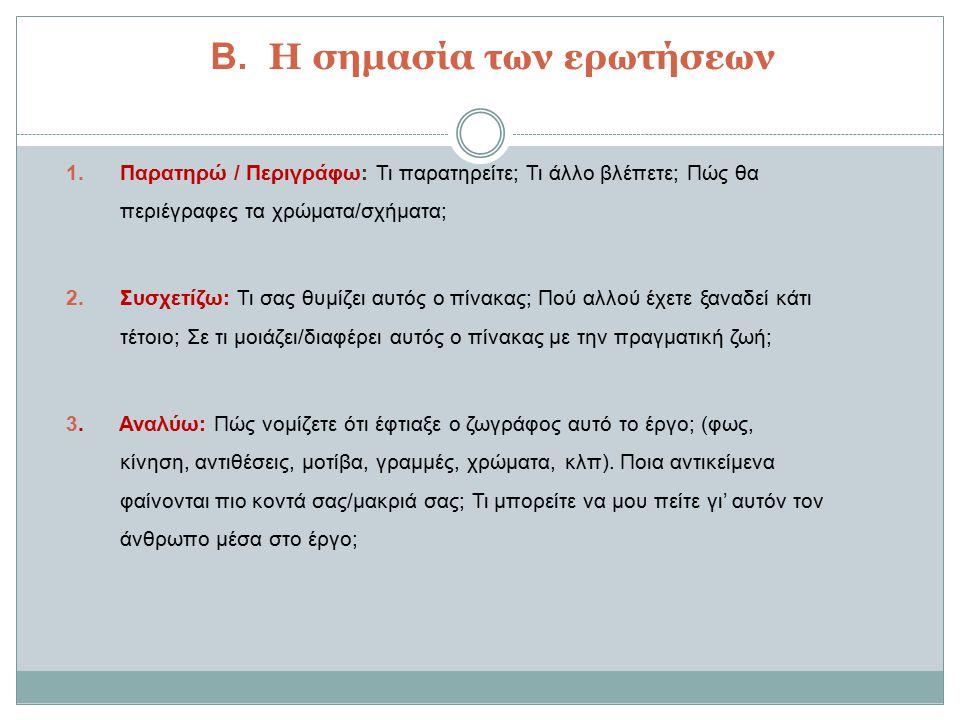 Β.Η σημασία των ερωτήσεων 1.