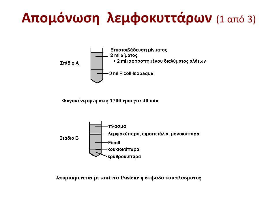 Απομόνωση λεμφοκυττάρων (1 από 3)