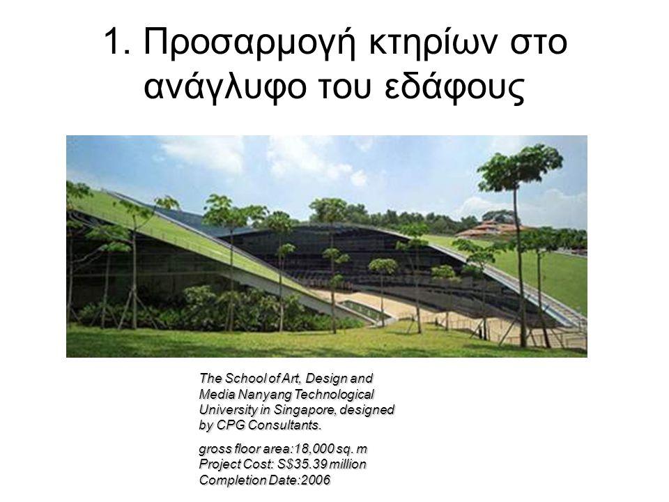 4. Ενσωμάτωση του δομημένου περιβάλλοντος με χρήση τοπικών φυσικών στοιχείων