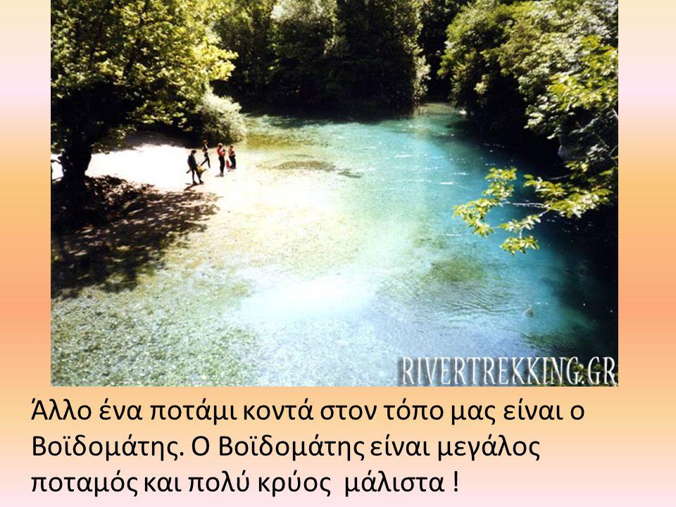 Άλλο ένα ποτάμι κοντά στον τόπο μας είναι ο Βοϊδομάτης. Ο Βοϊδομάτης είναι μεγάλος ποταμός και πολύ κρύος μάλιστα !