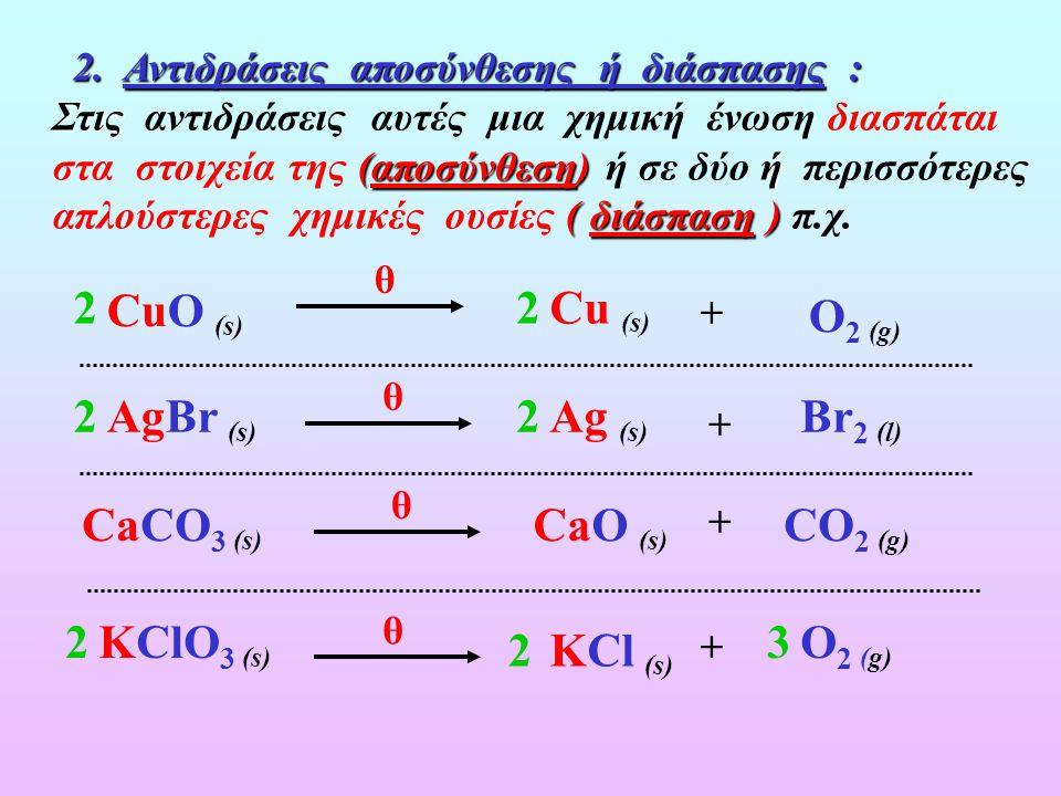 Α. Οξειδαναγωγικές Αντιδράσεις Α. Οξειδαναγωγικές Αντιδράσεις 1. Αντιδράσεις Σύνθεσης: Στιςδύο 1. Αντιδράσεις Σύνθεσης: Στις αντιδράσεις αυτές δύο ή ή