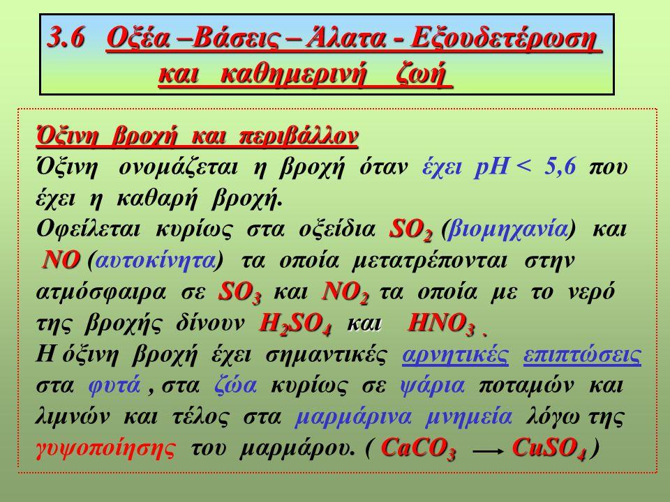 , HCl H 2 SO 4 ΗΝΟ 3 NaOH Ca(OH) 2 Al(OH) 3 CO 2 Cl 2 O 5 KOH Η 3 ΡΟ 4 CaO ΝΗ 3 ΟξύΒάσηΆλαςΝερό Ν2Ο3Ν2Ο3 Fe 2 O 3 + + + + + + + + + + NaCl Ca(ΝΟ 3 ) 2