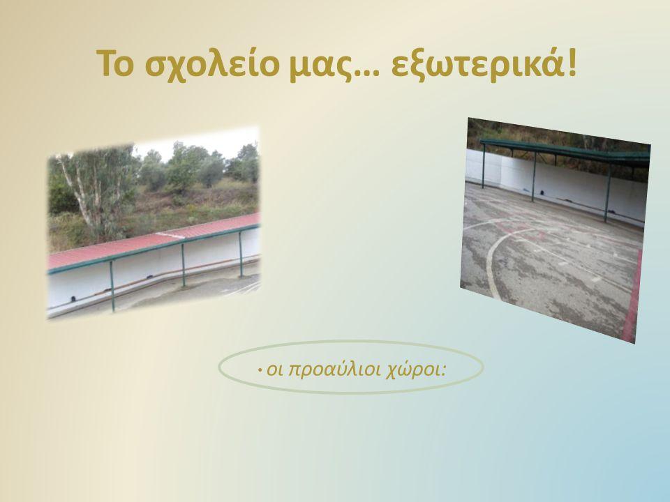 Το σχολείο μας… εξωτερικά! οι προαύλιοι χώροι: