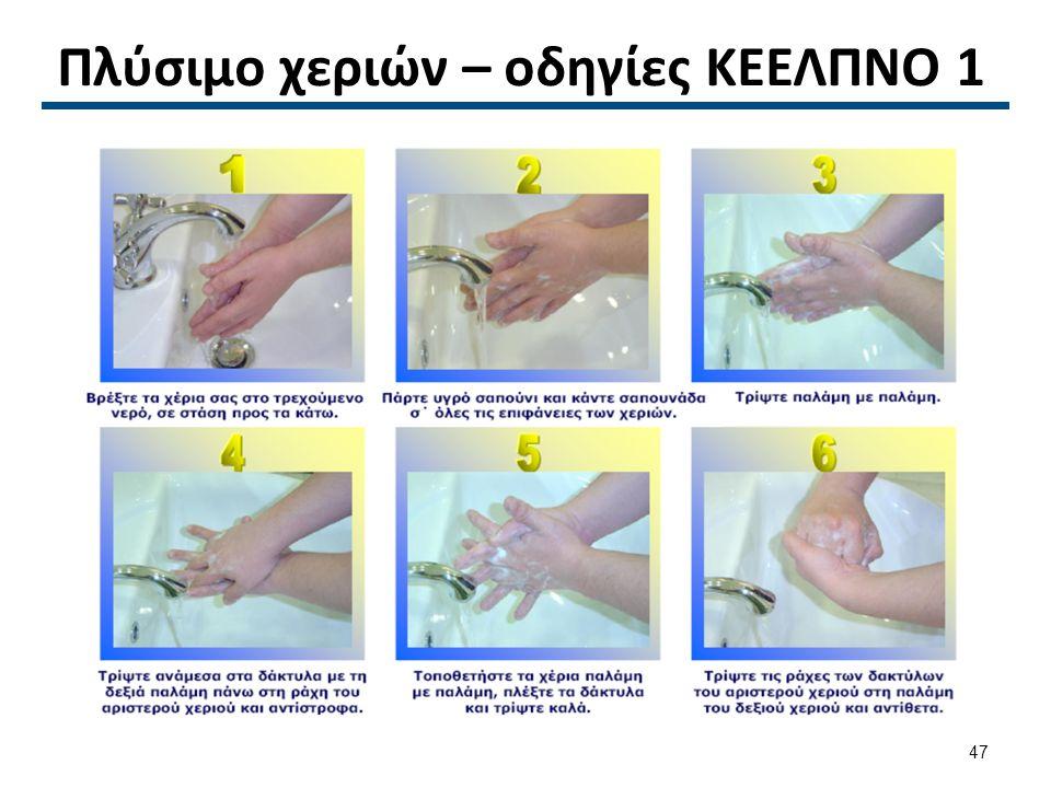 Πλύσιμο χεριών – οδηγίες ΚΕΕΛΠΝΟ 1 47