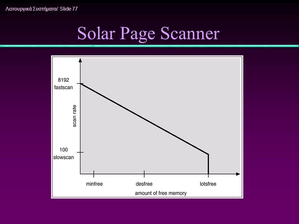 Λειτουργικά Συστήματα/ Slide 77 Solar Page Scanner