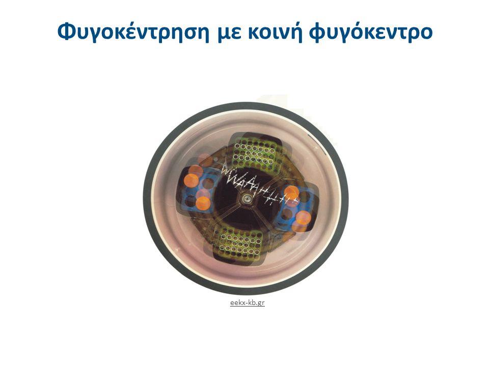 Φυγοκέντρηση με κοινή φυγόκεντρο eekx-kb.gr