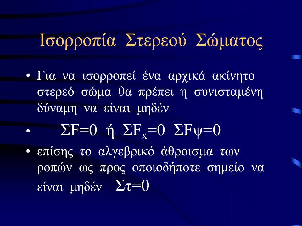 ΕΡΩΤΗΣΕΙΣ 6.Τι γνωρίζετε για το θεώρημα του Steiner; 7.Ποιες είναι οι διαφορές μεταξύ μάζας και ροπής αδράνειας; 8.Να διατυπωθεί ο θεμελιώδης νόμος της στροφικής κίνησης.