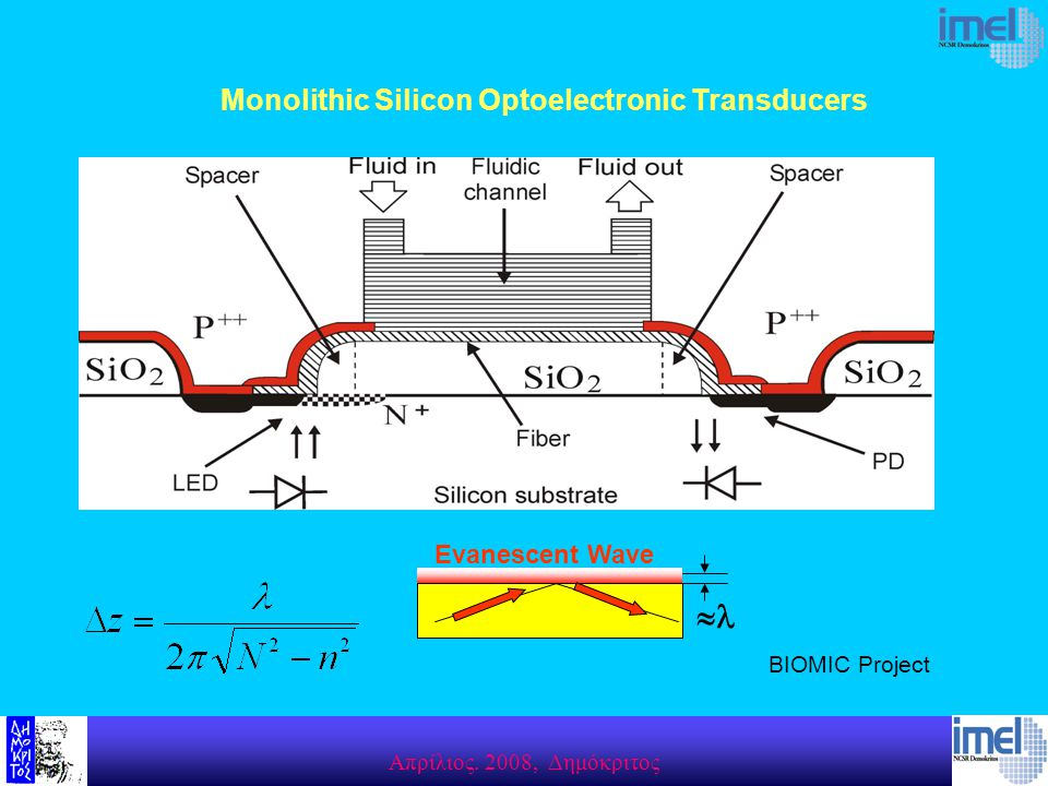 Monolithic Silicon Optoelectronic Transducers  Evanescent Wave BIOMIC Project