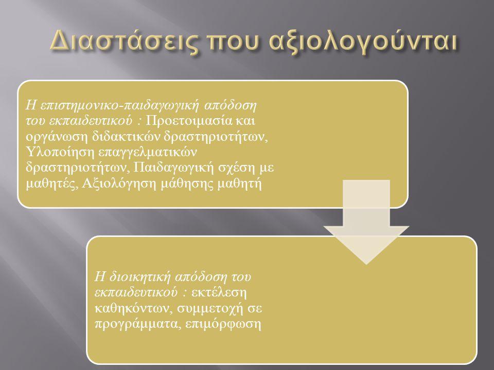 Η επιστημονικο-παιδαγωγική απόδοση του εκπαιδευτικού : Προετοιμασία και οργάνωση διδακτικών δραστηριοτήτων, Υλοποίηση επαγγελματικών δραστηριοτήτων, Π