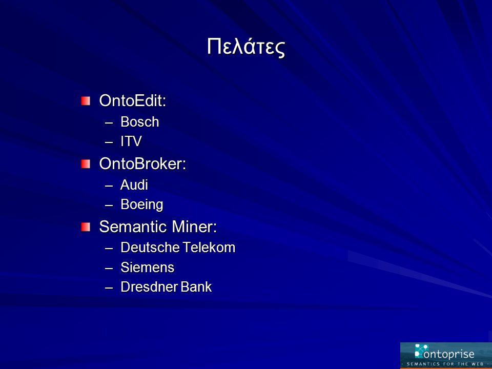 Παραδοτέα Ένας Ontology server.Μια βιβλιοθήκη οντολογιών για συνεργαζόμενες e-business.