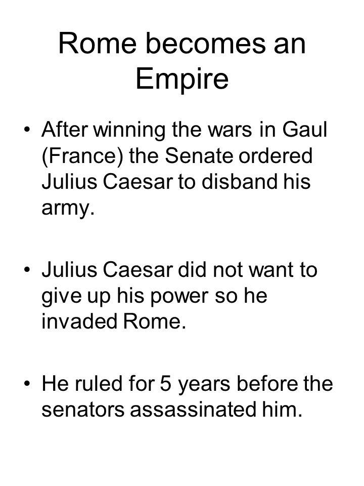 Describe Caesar in 6 words Choose 6 words to describe Caesar for his memorial.