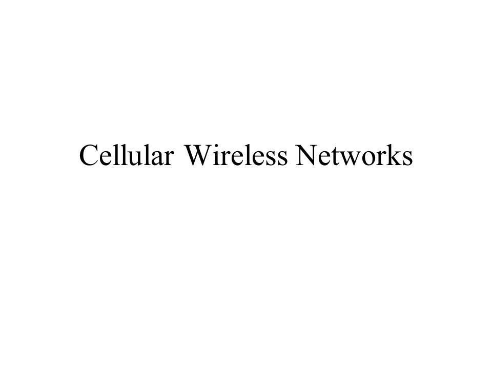 Examples of wireless networks –Cellular telephony –Satellite networks –Metropolitan-area data networks –Local-area networks –Infostations (mobile hosts traveling through fixed network) –Ad hoc networks (mobile nodes dynamically forming a temporary network without the use of any existing network infrastructure) –Paging networks –Other networks: Personal area networks, sensor networks, home networks, smart dust, ubiquitous computing environments, ambient intelligence buildings, etc