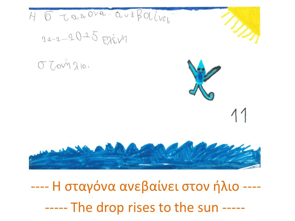 ---- Η σταγόνα ανεβαίνει στον ήλιο ---- ----- The drop rises to the sun -----