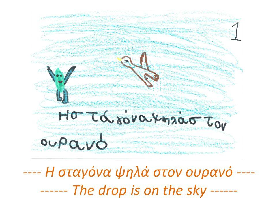 ---- Η σταγόνα ψηλά στον ουρανό ---- ------ The drop is on the sky ------