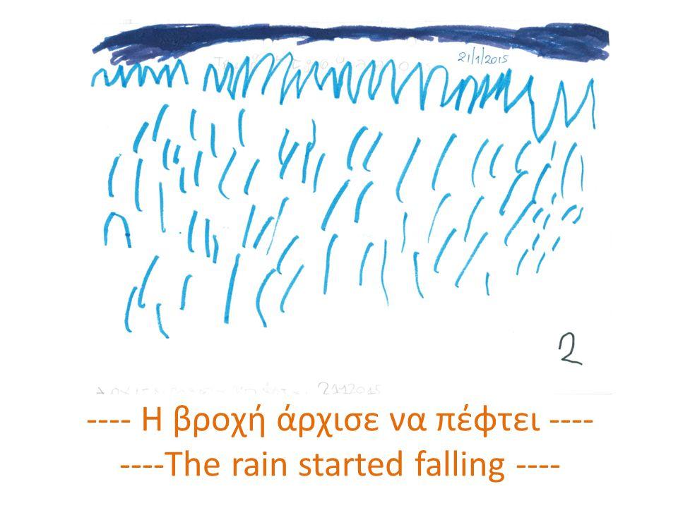 ---- Οι σταγόνες έφτασαν στη γη ---- ---- The drops are falling on the ground----