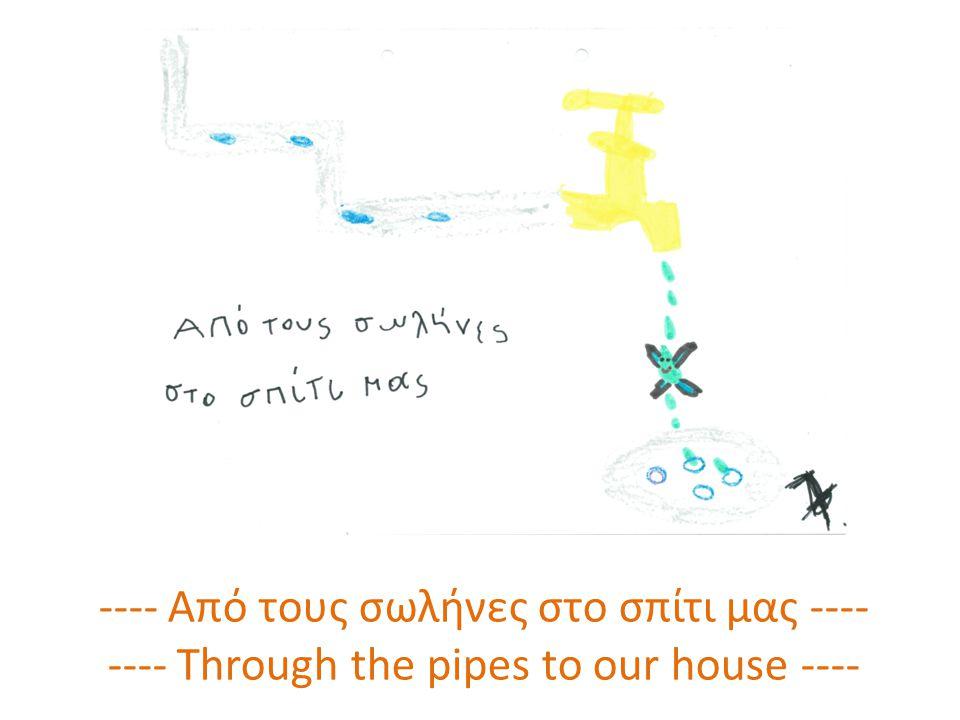 ---- Από τους σωλήνες στο σπίτι μας ---- ---- Through the pipes to our house ----