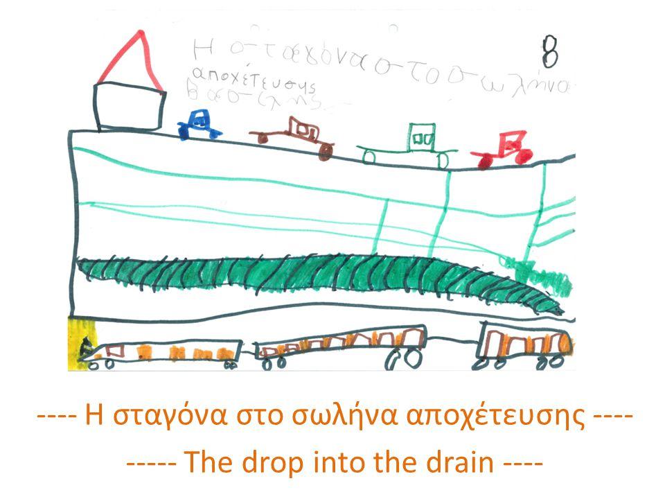 ---- Η σταγόνα όταν βγήκε από το βόθρο ---- ---- When the drop went out of the drain ----