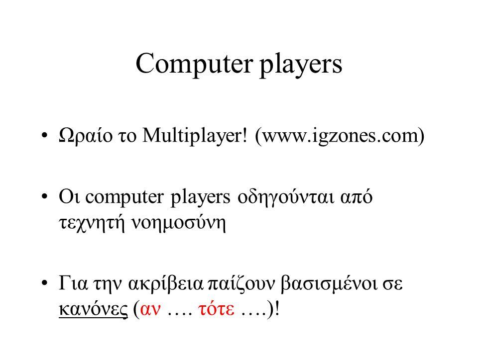 Computer players Ωραίο το Multiplayer.