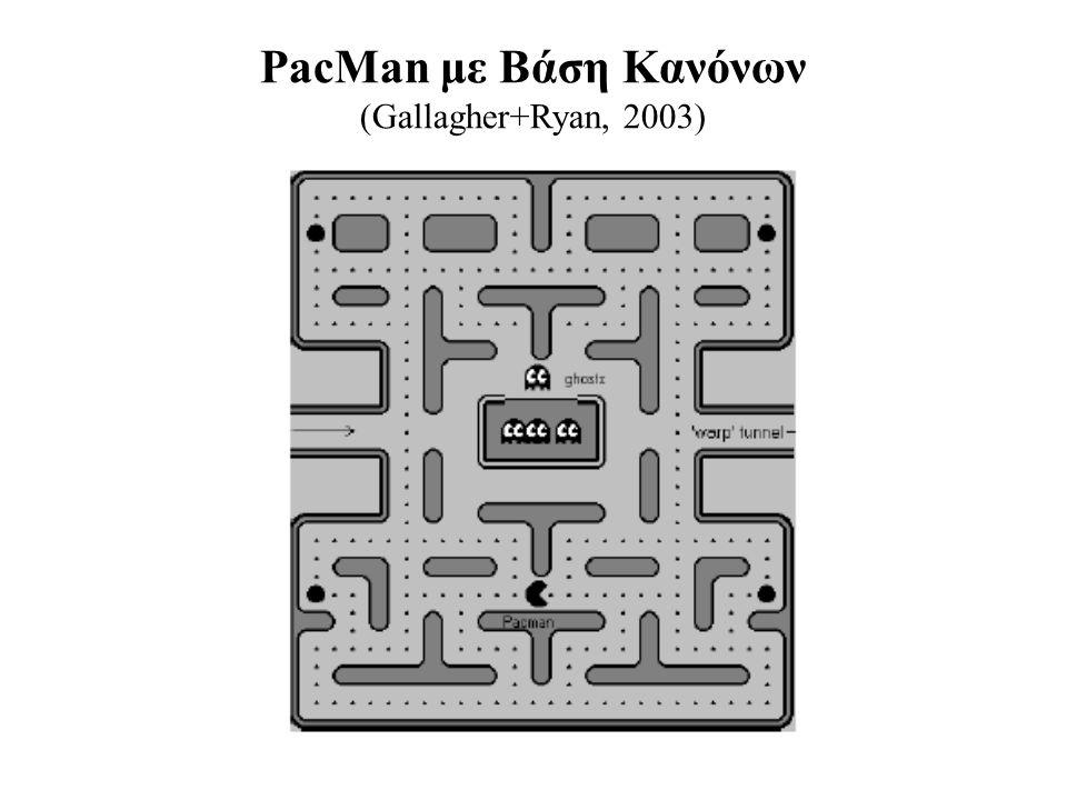 Απλοποιημένο PacMan (ένα φάντασμα, όχι power pills) Δύο βασικές καταστάσεις: explore και retreat