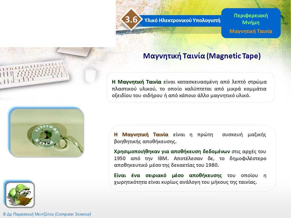 Η Μαγνητική Ταινία Η Μαγνητική Ταινία είναι η πρώτη συσκευή μαζικής βοηθητικής αποθήκευσης. Χρησιμοποιήθηκαν για αποθήκευση δεδομένων στις αρχές του 1