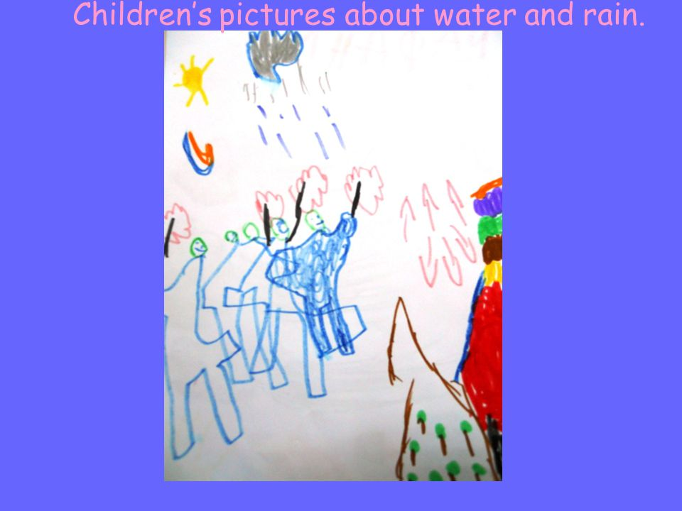 Children's pictures about water and rain.