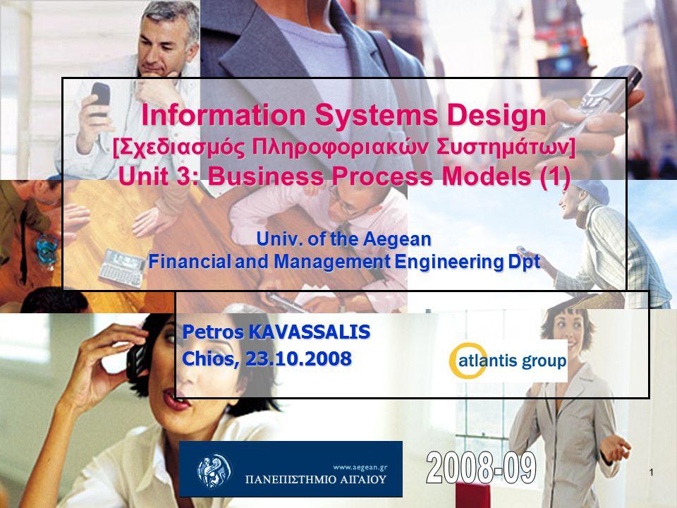 Interacting business processes (case 1) Petros KAVASSALIS 12