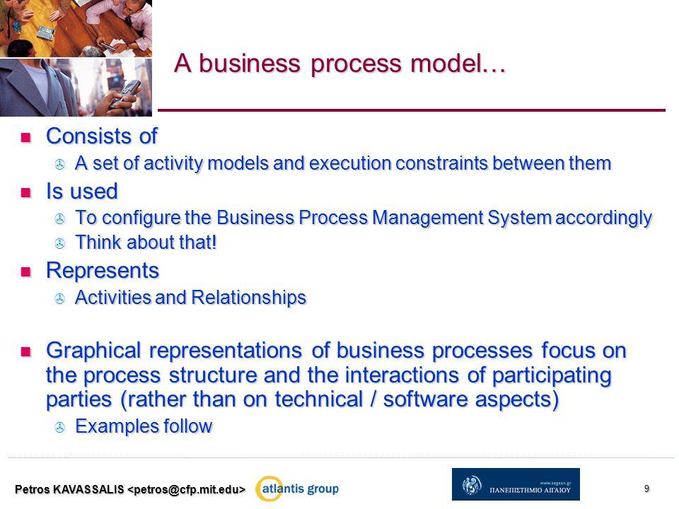 Business process model example: a reseller's process Petros KAVASSALIS 10